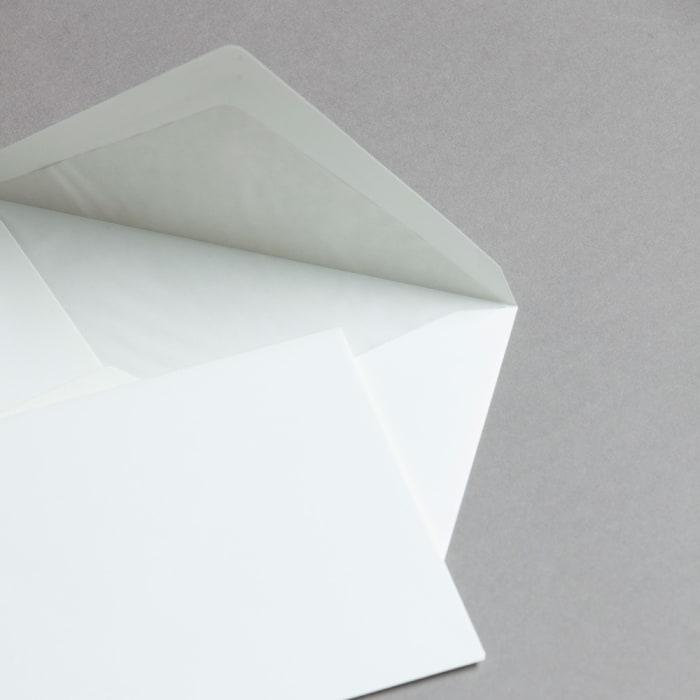 Handmade opaline envelopes lined
