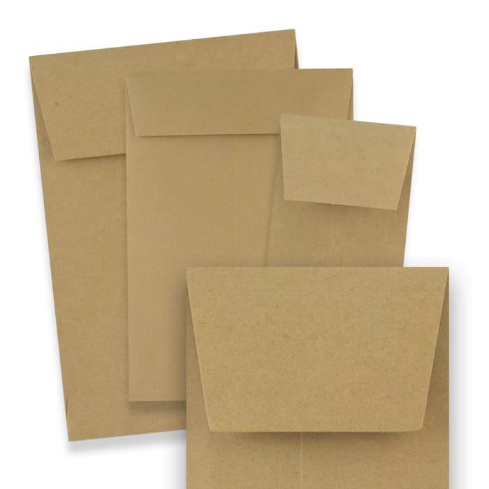 Kraftpapier enveloppen met zijvouw