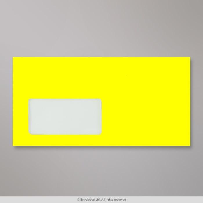 Sobre amarillo neón con ventanilla de 110x220 mm (DL)