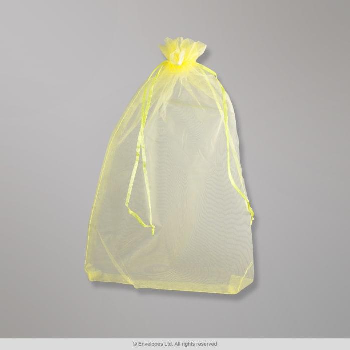 Bolsa de organza amarillo limón de 170x120 mm
