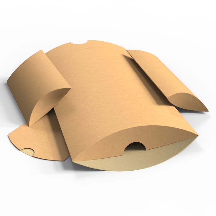 Kraftové škatuľky v tvare vankúša