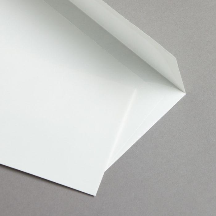 Koperty z papieru czerpanego białe DL