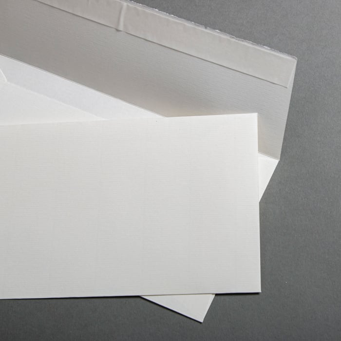 Handmade paper Envelopes off-white DIN lang pressure-sensitive adhesive