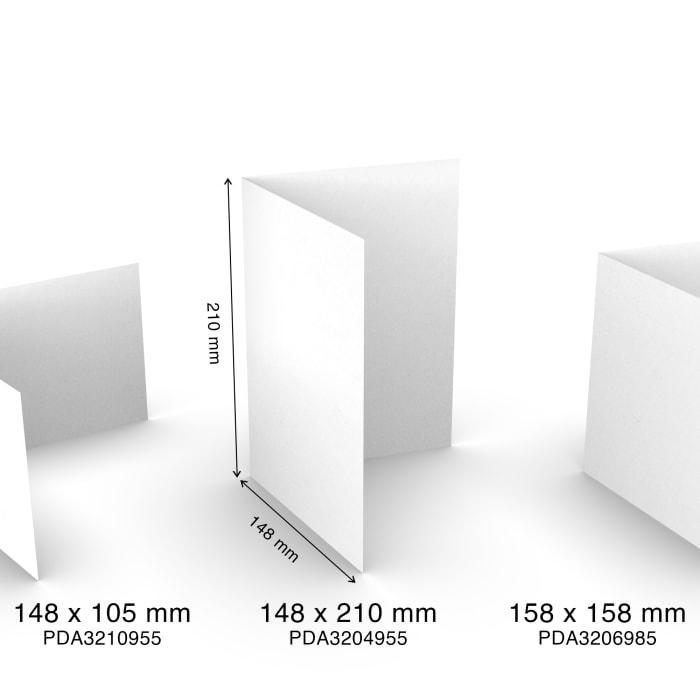 Paperikortit käsintehdystä paperista, A5, puolitaitos, muotokuva