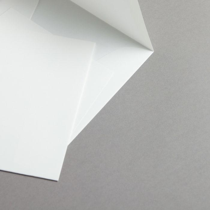 Buste in carta vergata bianco 165 x 165 mm