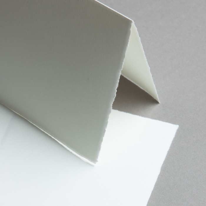 Biglietti in carta vergata bianco 158 x 158 mm doppio