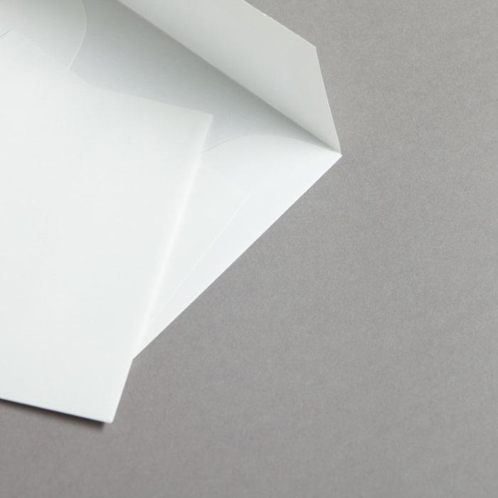 Buste in carta vergata bianco 125 x 125 mm