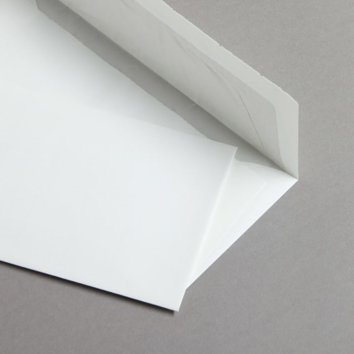 Handmade paper white
