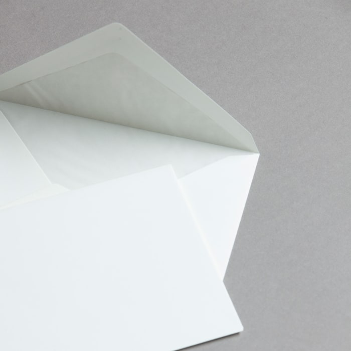 Opaline smooth lined envelopes C6 114x162 mm 110 gsm