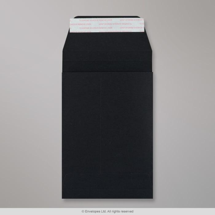 Enveloppe Post Marque noir à soufflet 162x114x25 mm (C6)