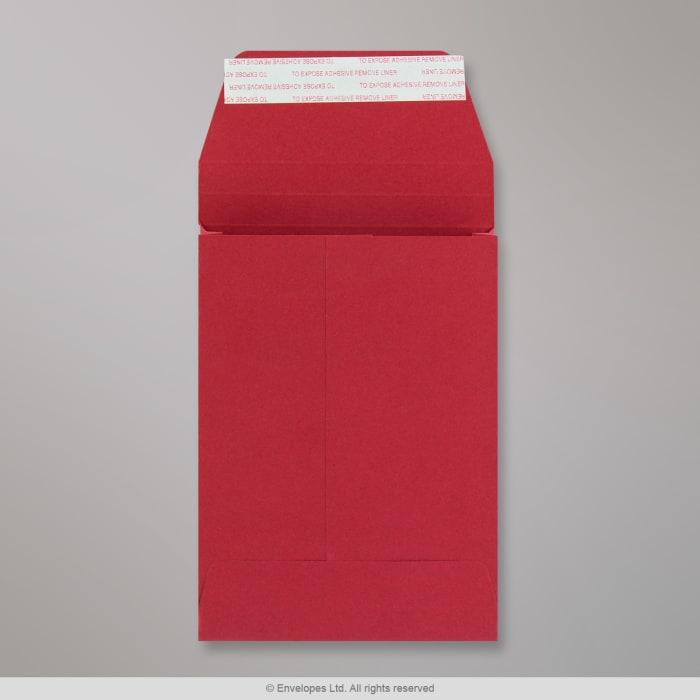 162x114x25 mm (C6) Dark Red Gusset Post Marque envelope