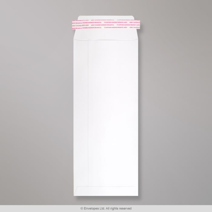 Valkoinen läpällinen kirjekuori 305x127 mm