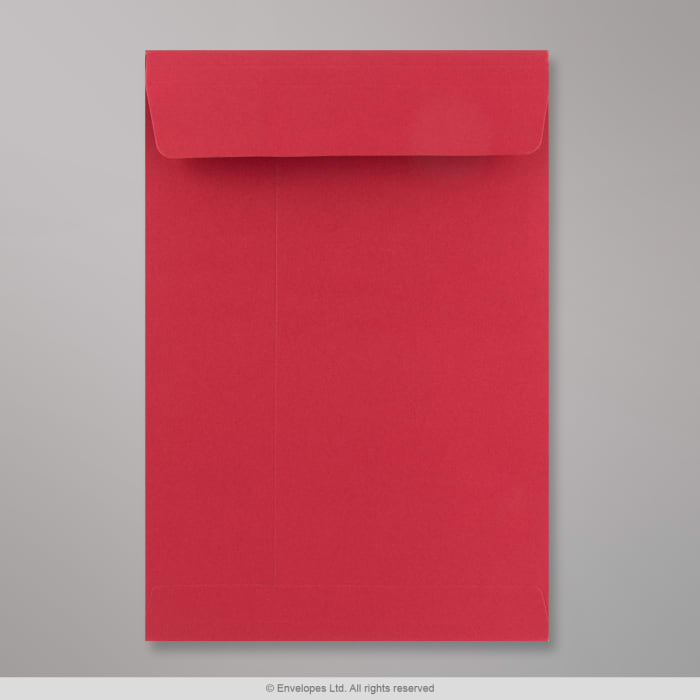 Sobre rojo de alto gramaje con fuelle de 324x229x25 mm (C4)