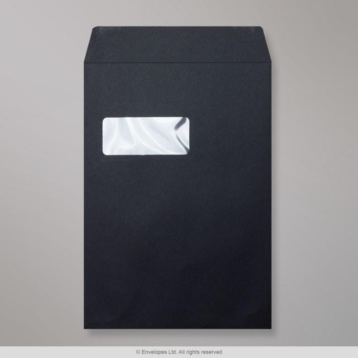 Černá Post Marque obálka 324x229 mm (C4)
