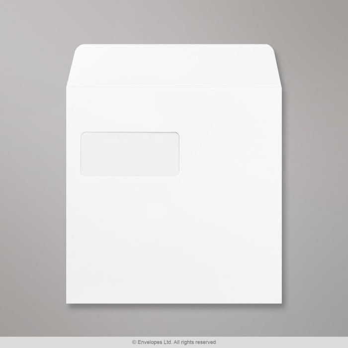 Weißer Post Marque Briefumschlag mit Fenster 220x220 mm