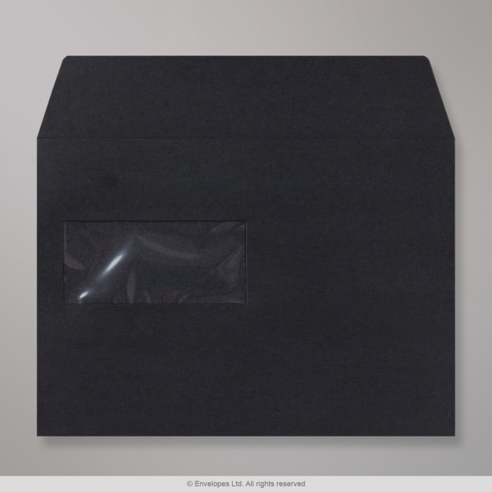 162x229 mm (C5) Black Post Marque Wallet Envelope