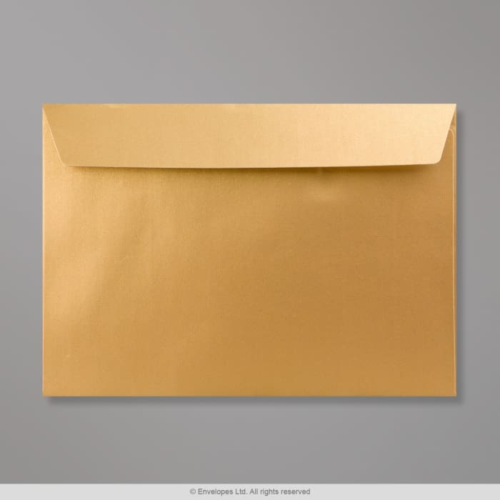 Guldfarvet konvolut 162x229 mm (C5)