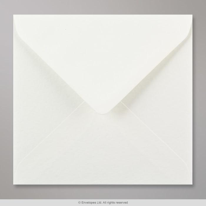 Enveloppe blanche martelée 155x155 mm