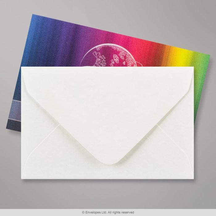 Weißer Struktur Briefumschlag 62x94 mm