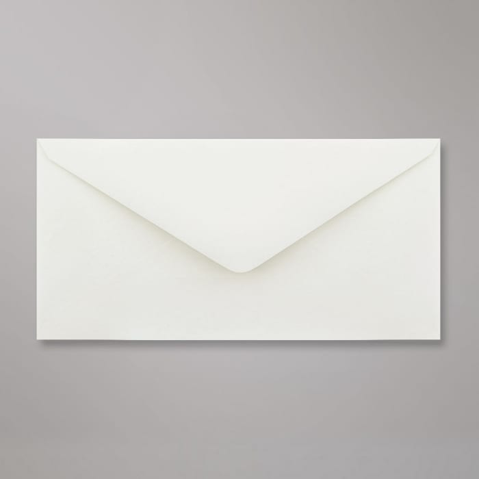 110x220 mm (DL) Witte envelop, hamerslag