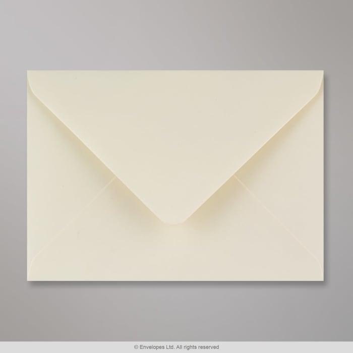 125x175 mm Ivoor Geweven Envelop