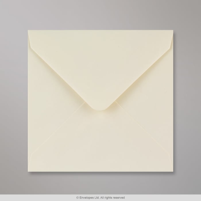Elfenbeinfarbener Briefumschlag 140x140 mm
