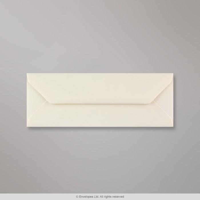 80x215 mm Ivoor Geweven Envelop