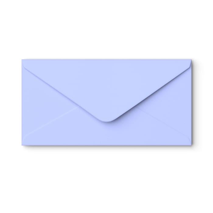 110x220 mm (DL) Wedgewood-blauwe envelop