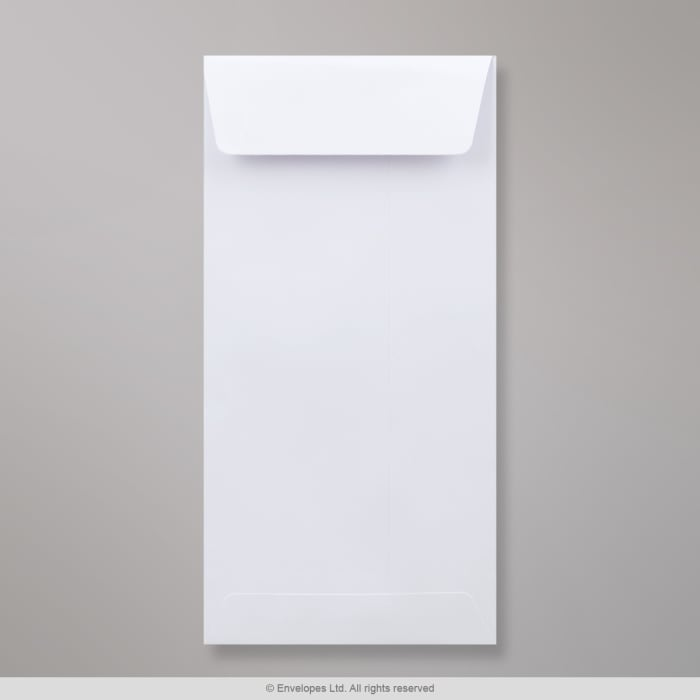 Hvidfarvet konvolut 220x110 mm (DL)