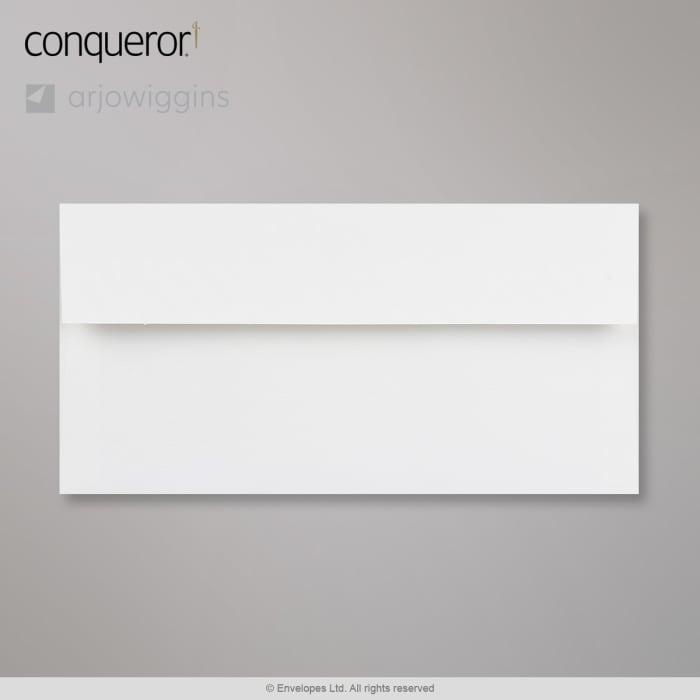Enveloppe conqueror vergé blanc glacier 110x220 mm (DL)