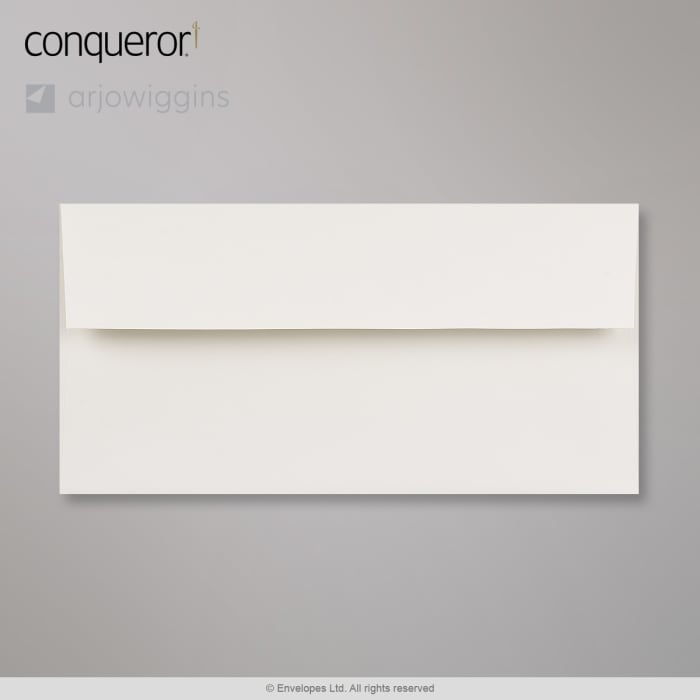 Sobre blanco tiza Conqueror de 110x220 mm (DL)