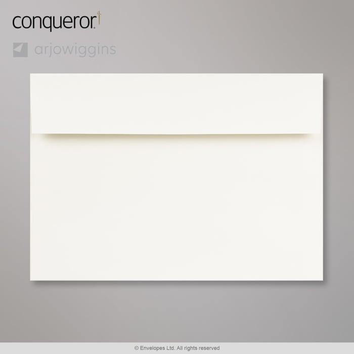 162x229 mm (C5) Sivobiela obálka Conqueror