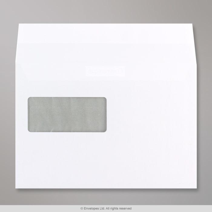Valkoinen ikkunallinen Communique-kirjekuori 162x229 mm (C5)