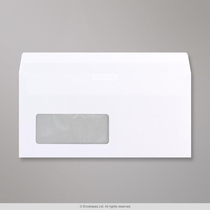 110x220 mm (DL) Biela  obálka Communique s okienkom