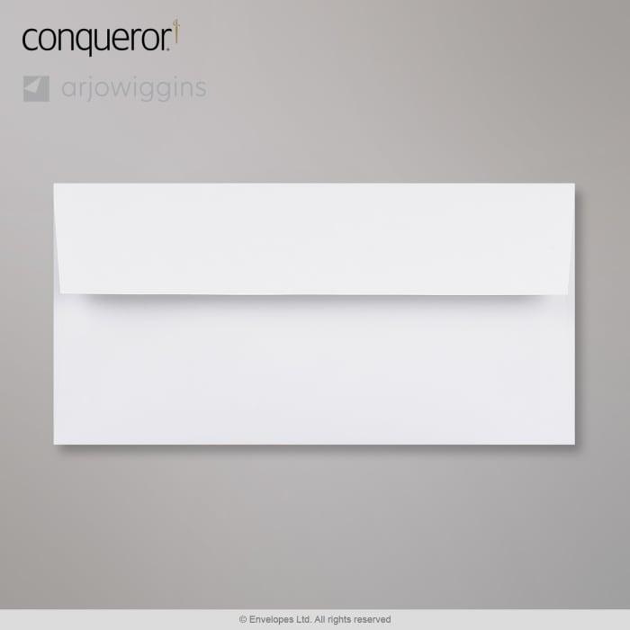 Enveloppe conqueror velin blanc diamant 110x220 mm (DL)