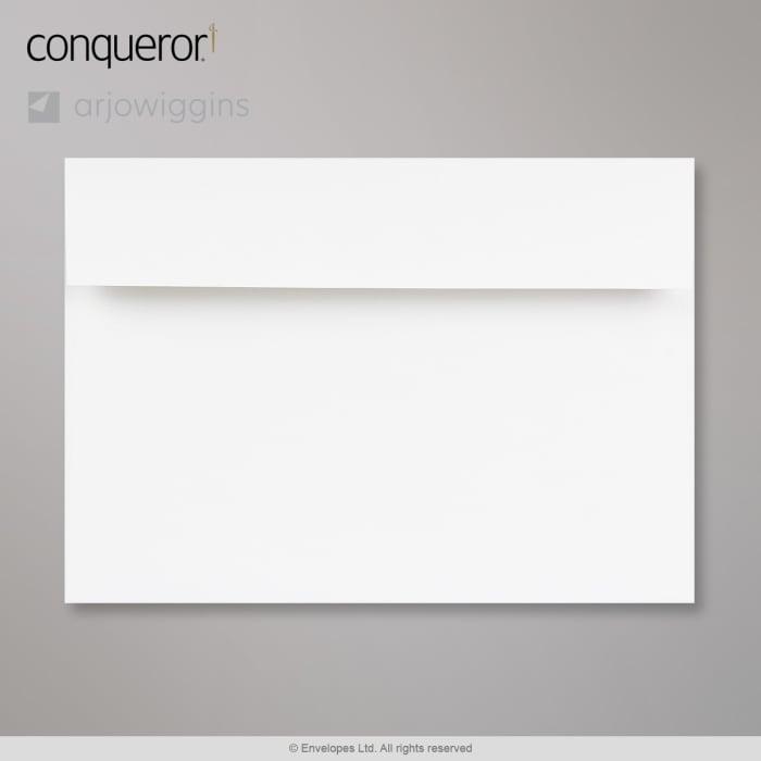Kirkkaanvalkoinen Conqueror-kirjekuori 162x229 mm (C5)