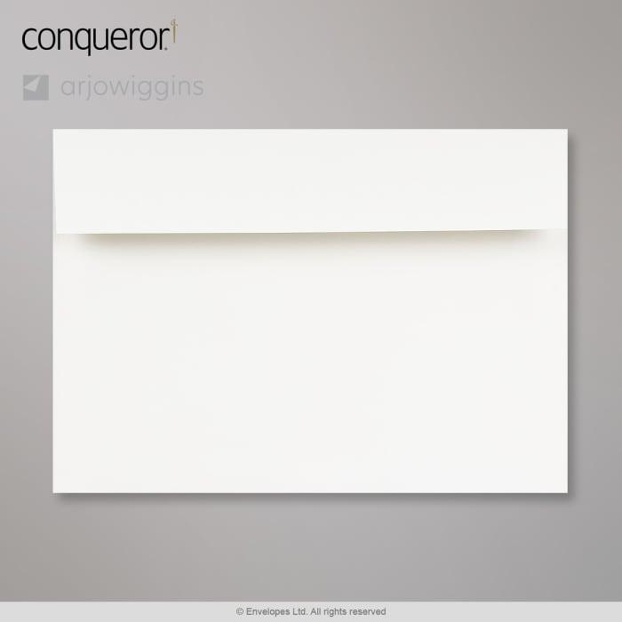 162x229 mm (C5) Hoog Wit Conqueror Geweven Envelop