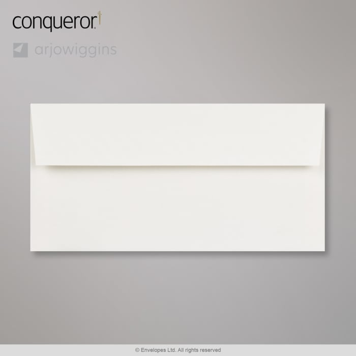 Enveloppe conqueror contour blanc glacier 110x220 mm (DL)