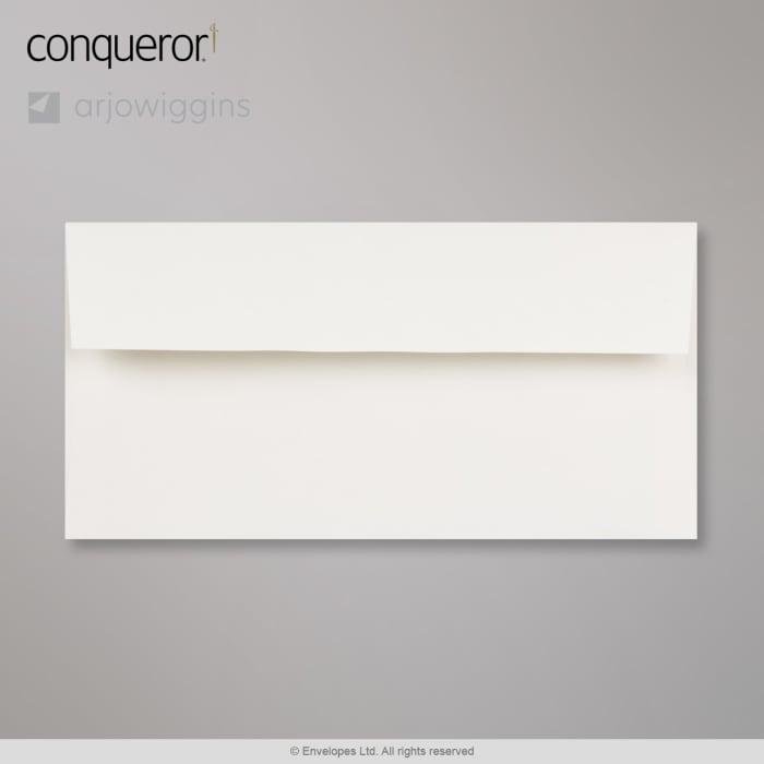 Højhvid Conqueror-konvolut 110x220 mm (DL)