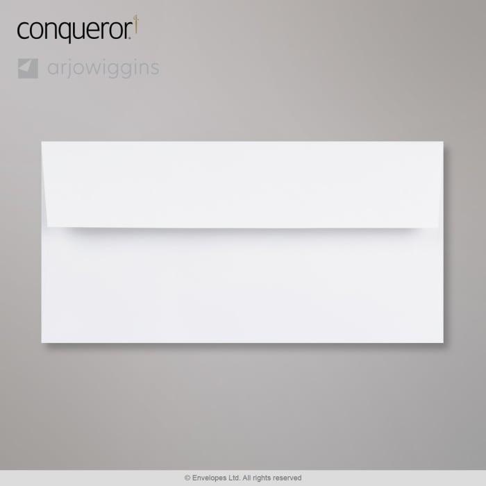 Sobre blanco intenso verjurado Conqueror de 110x220 mm (DL)