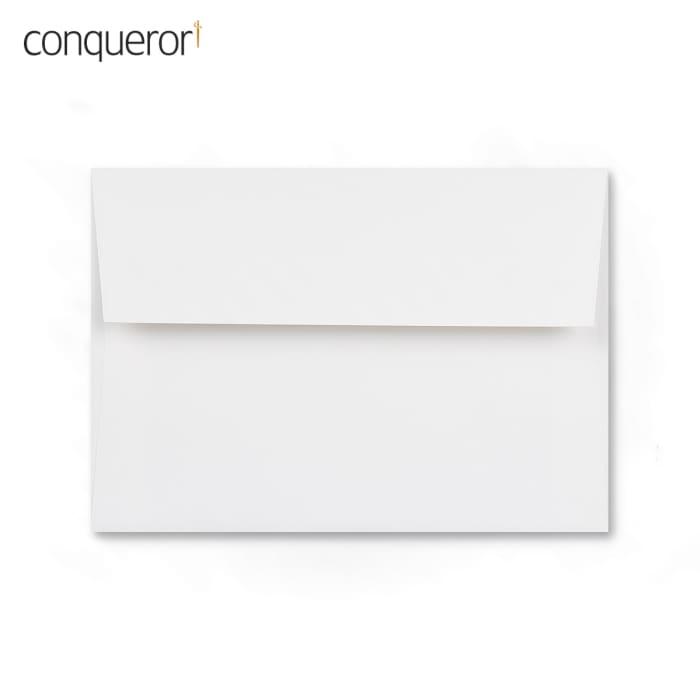Enveloppe conqueror velin blanc glacier 114x162 mm (C6)