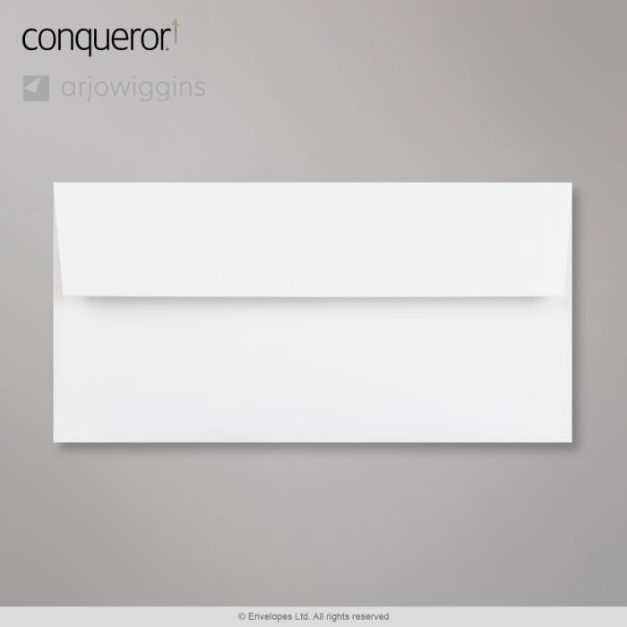 Lysende hvid Conqueror-konvolut 110x220 mm (DL)