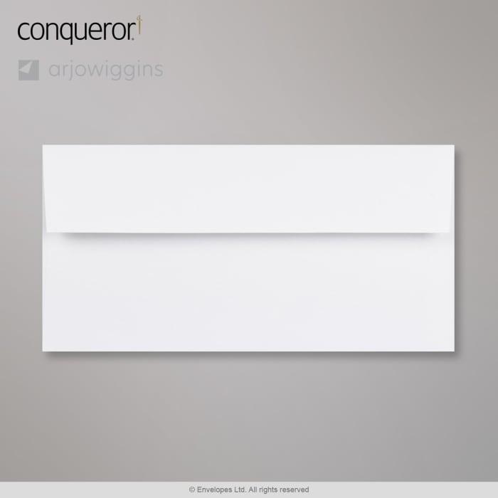 Enveloppe Conqueror contour blanc diamant 110x220 mm (DL)