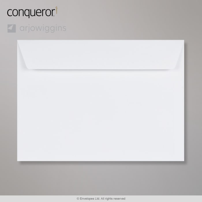Enveloppe blanche éclatante conqueror 229x324 mm (C4)