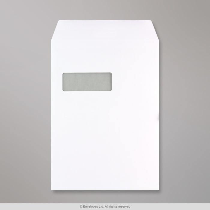 324x229 mm (C4) Busta Communique bianca con finestra
