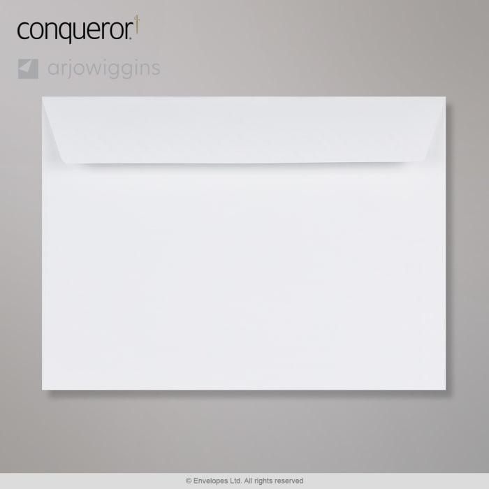 Sobre blanco brillante verjurado Conqueror de 229x324 mm (C4)