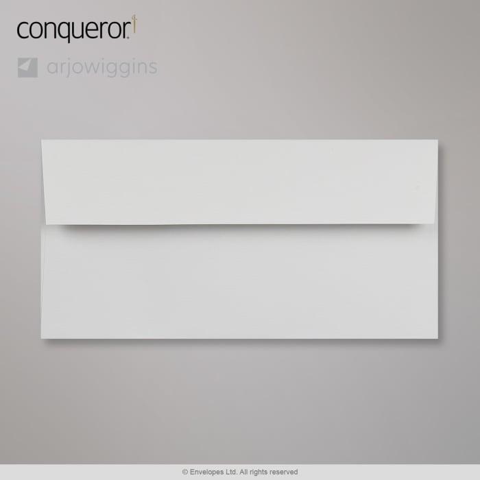 Enveloppe Conqueror vergé gris clair perle 110x220 mm (DL)