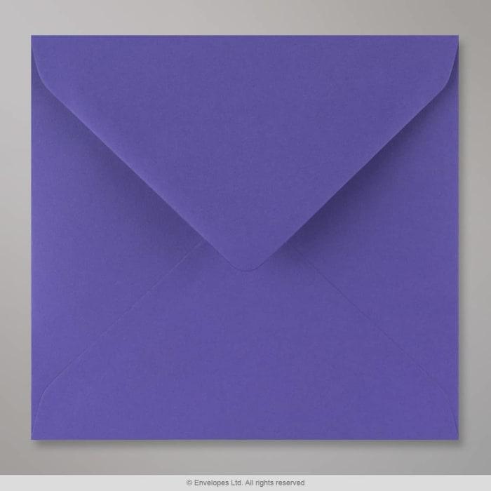 Enveloppe bleue iris 155x155 mm