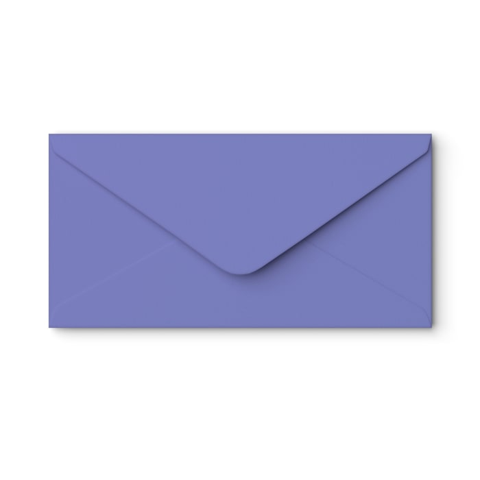 110x220 mm (DL) Irisblått kuvert