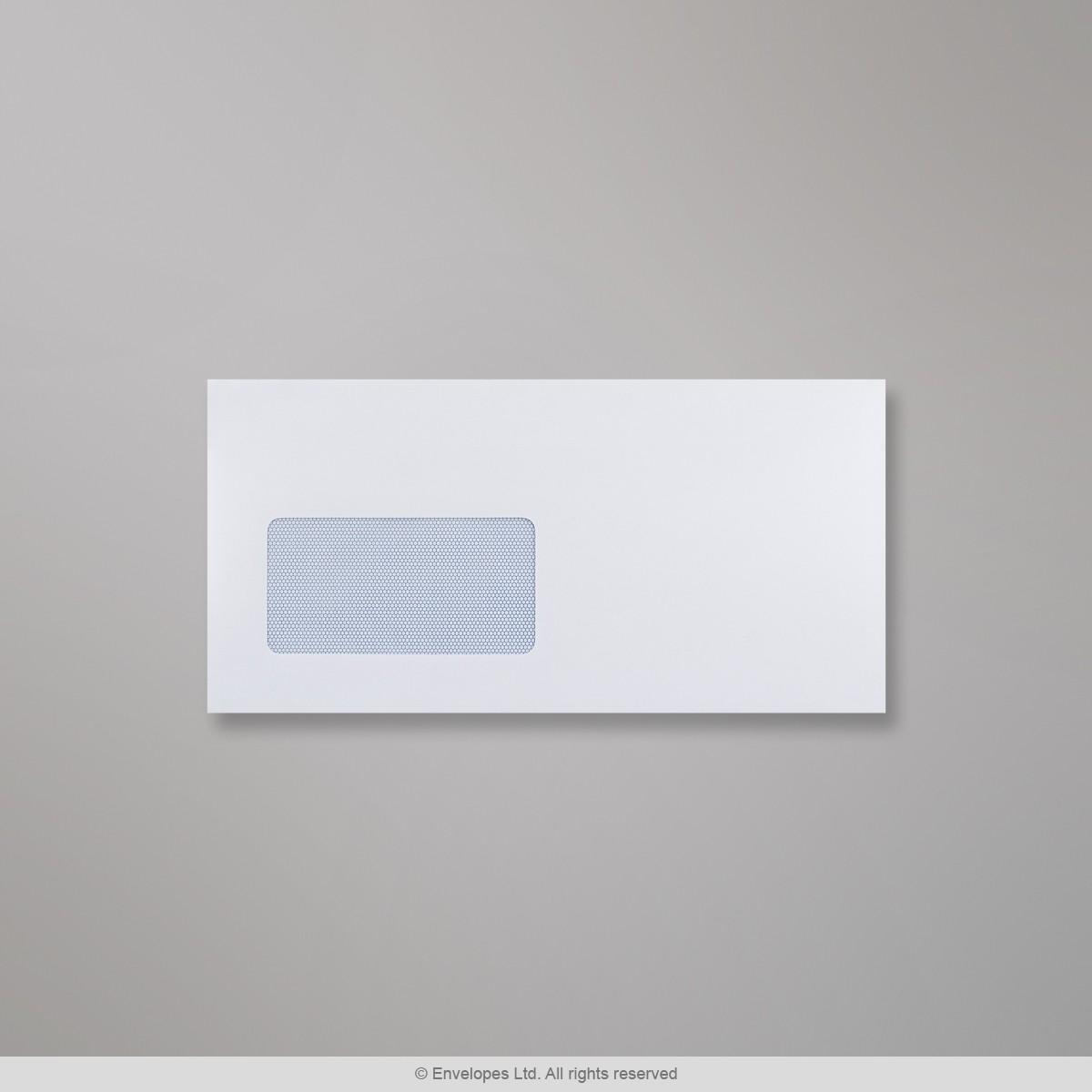 Valkoinen ikkunallinen kirjekuori 114x229 mm